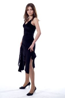 Free Standing Lady Stock Image - 4459031