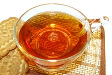 Free Transparent Cup  Of Tea And Cookies Stock Image - 4459071