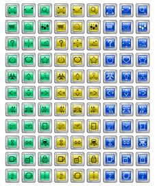 Many Color Buttons Royalty Free Stock Photos