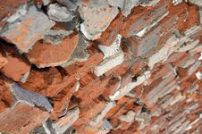 A Road Of Broken Red Bricks Royalty Free Stock Images