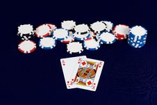Free Poker Cards Big Slick Royalty Free Stock Images - 4459329