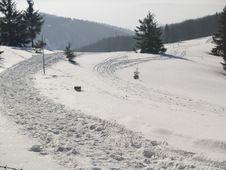 Free Mounatin Path - Winter Stock Images - 4459384