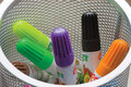 Free Child S Felt-tip Pens-markers In A White Tumbler Royalty Free Stock Photography - 4464487