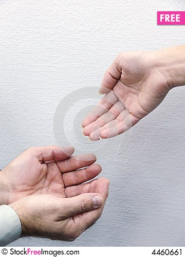 Free Hands Of People. Movement. Stock Image - 4460661