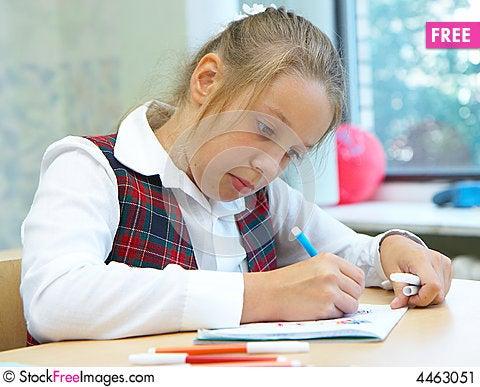 Girl Drawings Free The Girl Draws Stock