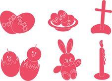 Easter Icons Royalty Free Stock Image