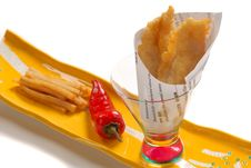 Free Asian Version Of Fish And Chips Royalty Free Stock Photo - 4460975