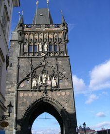 Tower On Charles Bridge Prague Royalty Free Stock Image
