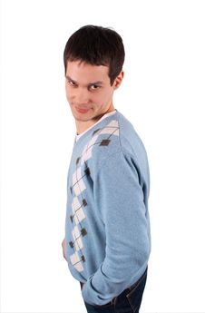 Young Man Sideview Stock Photography