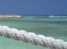Free Rope Fence On Tropical Beach Stock Photo - 4461650