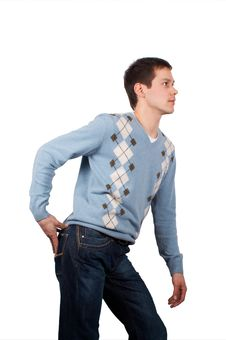Free Young Man Posing Sideview Royalty Free Stock Image - 4461656