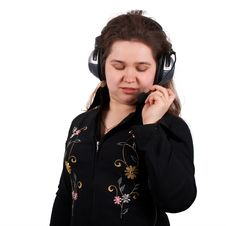Free Girl With Headset Royalty Free Stock Photography - 4461977