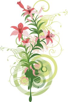 Free Floral Design Series Royalty Free Stock Image - 4462106