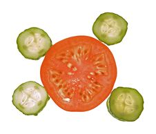 Free Slices Of Tomato And Cucumber Royalty Free Stock Photo - 4462225