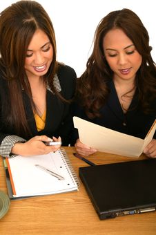 Women Business Team During Busy Hour 2 Stock Image