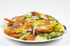 Salad From Fresh Vegetables Royalty Free Stock Photo