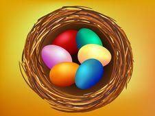Free Wallpaper Of Easter Eggs In Nest Stock Image - 4463891
