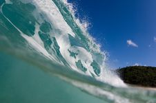 Giant Hollow Wave Stock Photo
