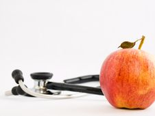 Free An Apple A Day Keeps The Doctor Away Royalty Free Stock Photo - 4464295