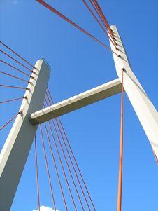 Free Modern Suspension Bridge Royalty Free Stock Photo - 4465285