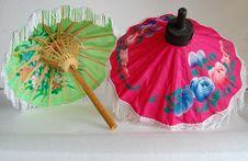 Free Pair Of Vietnamese Umbrella Royalty Free Stock Image - 4466406