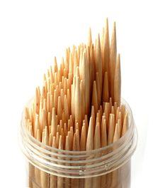 Wooden Toothpick Stock Photo