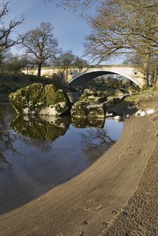 Free Bank Of The River Lune Stock Image - 4467341