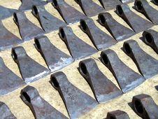 Free Set Of Axe Blades Royalty Free Stock Photos - 4467528