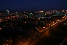 Free Town At Night Royalty Free Stock Photo - 4468025