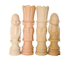 Kings And Queens African Chess Royalty Free Stock Image