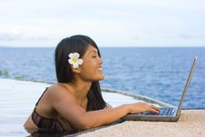 Free Work Anywhere In Paradise Stock Image - 4468581