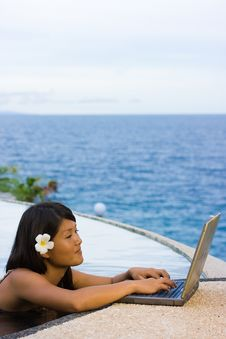 Free Work Anywhere In Paradise Royalty Free Stock Image - 4468686