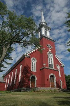 Red Church Royalty Free Stock Photo