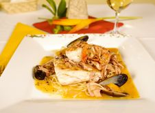 Free Seafood Spaghetti Stock Photos - 4469483