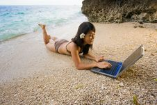 Free Work Anywhere In Paradise Royalty Free Stock Photo - 4469565