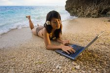 Free Work Anywhere In Paradise Stock Image - 4469581