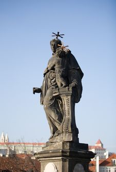 Free Statue- Charles Bridge Royalty Free Stock Photography - 4469997