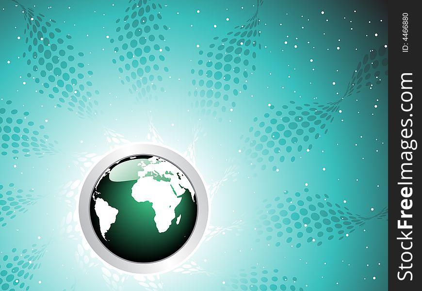 Globe  halftone background