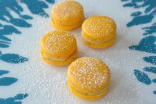 Free Macarons With Lemonfilling Stock Images - 44680304