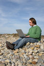 Free Young Casual Man With Laptop Royalty Free Stock Photo - 4472345