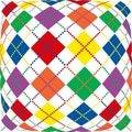 Free Warped Rainbow Argyle Royalty Free Stock Photography - 4474017