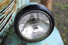 Free Ancient Car Front Light Stock Photography - 4470602
