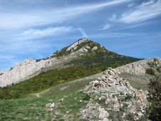 The Mountain Khrikol.Crimea.Ukraine Royalty Free Stock Photography