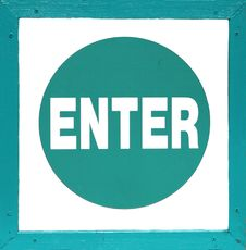 Free Enter Sign Royalty Free Stock Photo - 4471275