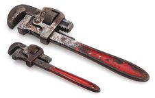 Free Red Handle Pipe Wrenches Stock Images - 4471364