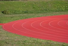 Free Athletics Track In Perspective Royalty Free Stock Photography - 4471677