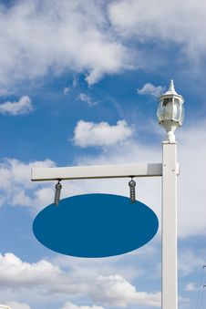 Vinyl Sign Post 2 (room For Your Text) Stock Photo