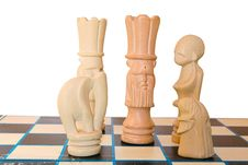 Free A King Surroundered On The Chess Board Royalty Free Stock Images - 4472759