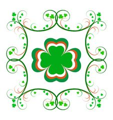 Free Fancy Irish Shamrock Frame Royalty Free Stock Image - 4472776