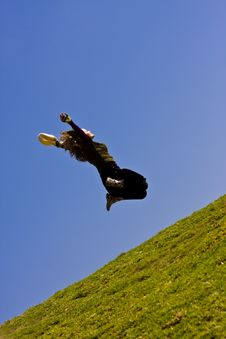 Free Young Woman Jumping Stock Photography - 4472842